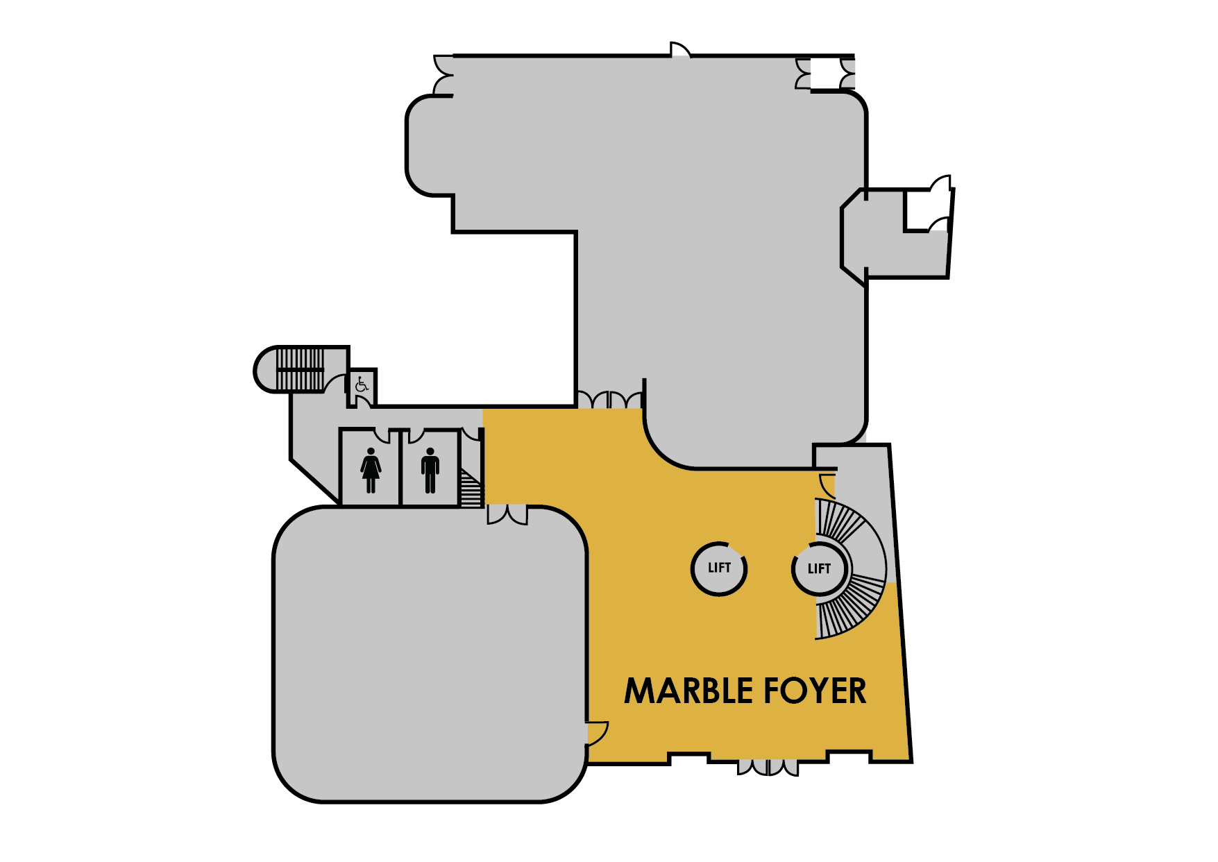 Marble Foyer map